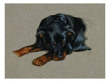 Carl Resting from Good Dog Carl Giclee Print by Alexandra Day