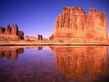 Mesa and Lake Photographic Print by Robert Glusic