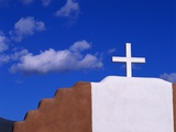 Cross on Church and Sky Photographic Print by Mark Karrass