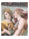 Detail Showing Ceres and Juno in Venus with Ceres and Juno from the Loggia of Cupid and Psyche Reproduction procédé giclée par  Raphael