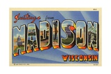 Greeting Card from Madison, Wisconsin Giclee Print