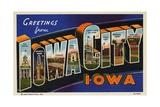 Greeting Card from Iowa City, Iowa Giclee Print