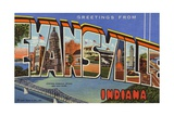 Greeting Card from Evansville, Indiana Giclee Print