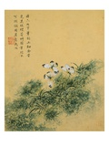 Flowers, from an Album of Ten Leaves (Butterflies) Giclee Print by Zhou Xianji