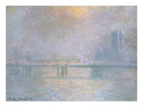 Charing Cross Bridge, La Tamis Giclee Print by Claude Monet