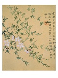Flowers, from an Album of Ten Leaves Giclee Print by Zhou Xianji