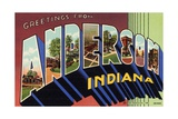 Greeting Card from Anderson, Indiana Giclee Print