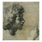 Study for the Head and Hand of an Apostle by Raphael Giclee Print