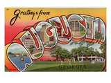 Greeting Card from Augusta, Georgia Giclee Print by  Lake County Museum
