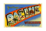 Greeting Card from Racine, Wisconsin Giclee Print