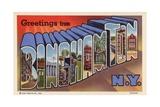 Greeting Card from Binghamton, New York Giclee Print