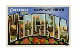 Greeting Card from Newport News, Virginia Giclee Print
