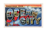 Greeting Card from Ocean City, Maryland Giclee Print