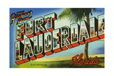 Greeting Card from Fort Lauderdale, Florida Giclee Print