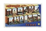 Greeting Card from Corpus Christ, Texas Giclee Print