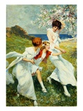 A Spring Day by the Seashore Giclee Print by Rene Lelong