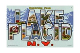 Greeting Card from Lake Placid, New York Giclee Print
