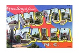 Greeting Card from Winston-Salem, North Carolina Giclee Print