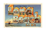 Greeting Card from Long Beach, New York Giclee Print