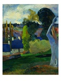 Farm in Brittany Giclee Print by Paul Gauguin