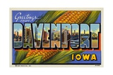 Greeting Card from Davenport, Iowa Giclee Print