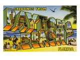 Greeting Card from Daytona Beach, Florida Giclee Print by  Lake County Museum