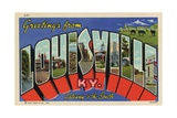 Greeting Card from Louisville, Kentucky Giclee Print
