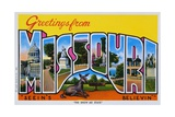 Postcard of Greetings from Missouri Giclee Print