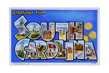 Postcard of Greetings from South Carolina Giclee Print