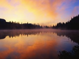 Mist over Lake at Dawn Photographic Print by Mark Karrass