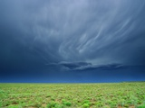 Storm Clouds Hanging over the Plains of Llano Estacado. Photographic Print by Tom Bean