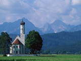 St. Koloman Church Photographic Print by Wolfgang Kaehler