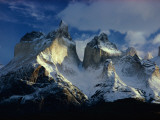 Sunlight Shines on the Summits of Cordillera De Paine Photographic Print by George F. Mobley