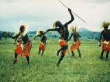 Tutsi Men Recall Days of Glory in an Exuberant Dance Photographic Print by George F. Mobley