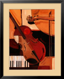 Abstract Violin Prints by Paul Brent