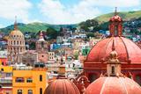 ¡Viva Mexico! Collection - Guanajuato - Church Domes III Fotografie-Druck von Philippe Hugonnard