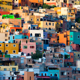 ¡Viva Mexico! Square Collection - Guanajuato at Sunset II Fotografisk tryk af Philippe Hugonnard