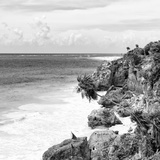 ¡Viva Mexico! Square Collection - Caribbean Coastline in Tulum V Photographic Print by Philippe Hugonnard