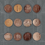 Roman Coins I Giclee Print by  The Vintage Collection