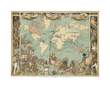 Extent of the British Empire in 1886 Premium Giclee Print by Walter Crane