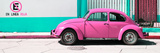"¡Viva Mexico! Panoramic Collection - ""En Linea Roja"" Pink VW Beetle Car Lámina fotográfica por Philippe Hugonnard"