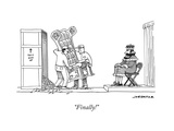 """Finally!"" - New Yorker Cartoon Premium Giclee Print by Joe Dator"