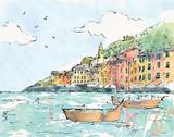 Portofino I Posters af Anne Tavoletti