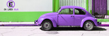 "¡Viva Mexico! Panoramic Collection - ""En Linea Roja"" Purple VW Beetle Car Lámina fotográfica por Philippe Hugonnard"