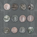 Roman Coins II Giclee Print by  The Vintage Collection