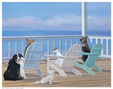 Porch Tails Prints by Carol Saxe
