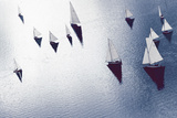 Broads Regatta, Island Yachts - Awash Giclee Print by Ben Wood