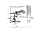 """Frankly, I don't see the resemblance."" - New Yorker Cartoon Premium Giclee Print by Kaamran Hafeez"