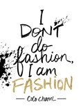 I am Fashion! Giclee Print by Lottie Fontaine