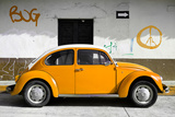 ¡Viva Mexico! Collection - VW Beetle Car and Orange Graffiti Photographic Print by Philippe Hugonnard